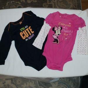 Carters & Disney onesie ~One Minnie & I'm so cute